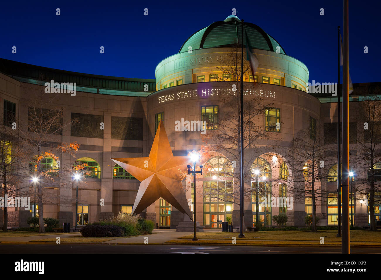 The Bullock Texas State History Museum, located in downtown Austin, Texas Stock Photo