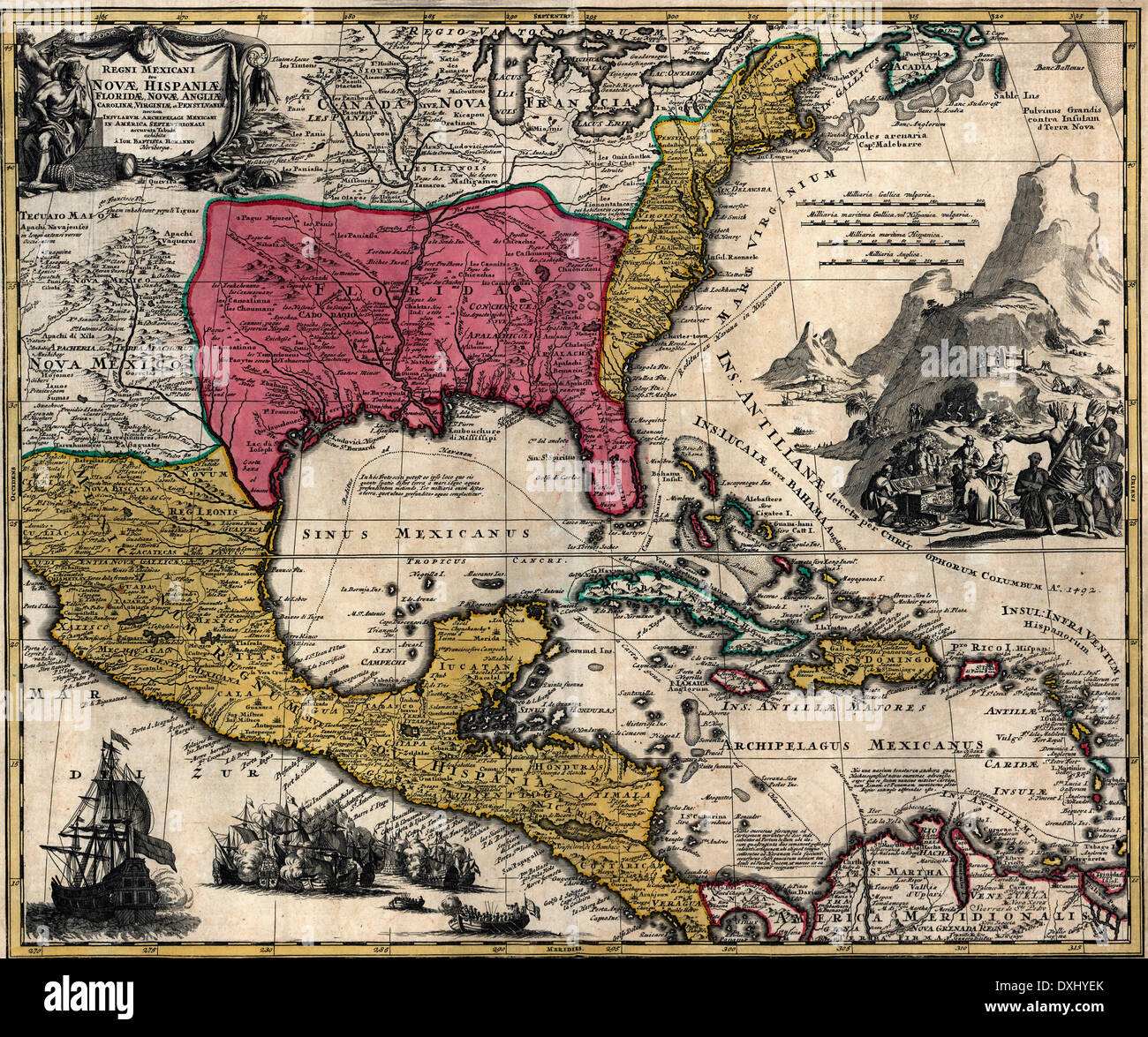 Mexico Florida Map.Maps Of The Kingdom Of New Spain Or Mexico Florida New England