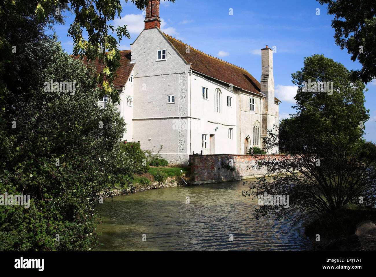 Saint Peter's brewery and restaurant in old moated farmhouse, St Peter´s Hall, St Peter South Elmham, Bungay, Suffolk, England - Stock Image