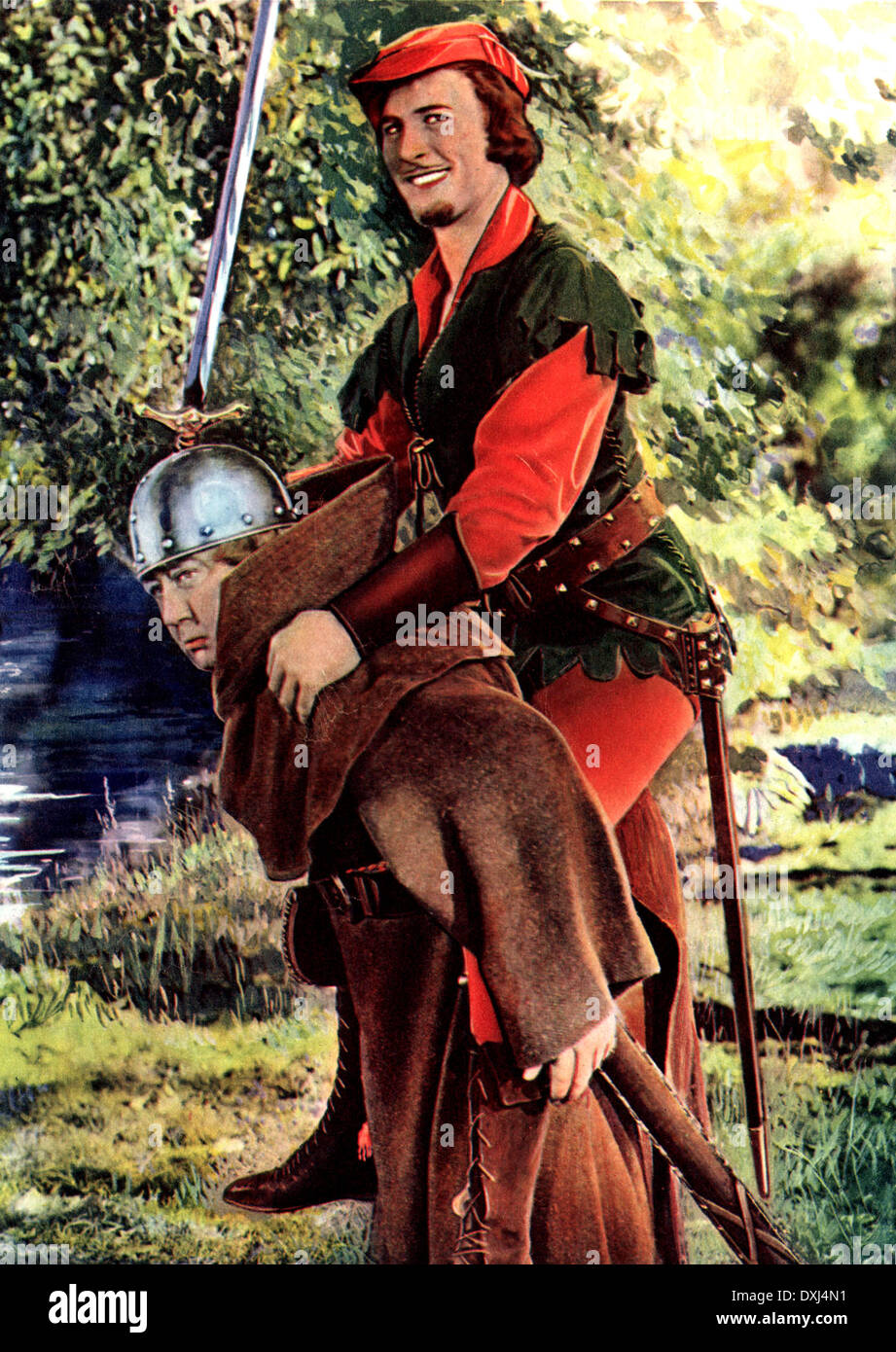 THE ADVENTURES OF ROBIN HOOD - Stock Image