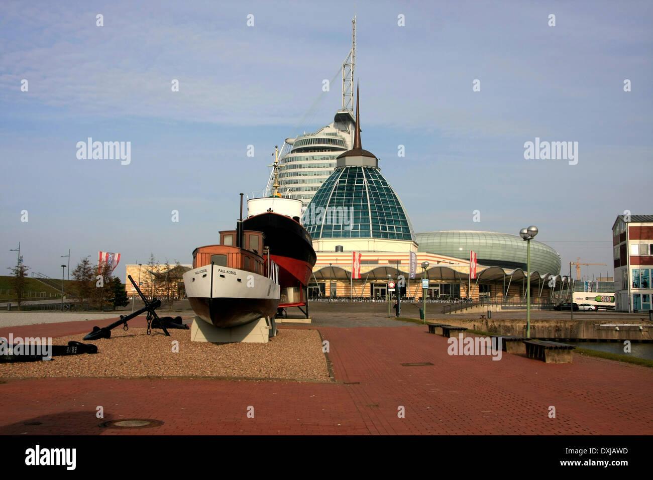 Das Deutsche Schiffahrtsmuseum in Bremerhaven ist das nationale Schifffahrtsmuseum in Deutschland. Es ist eins von Stock Photo