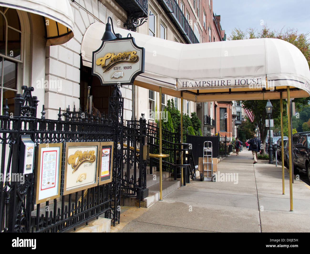 Exterior of the famous 'Cheers' bar in Boston Stock Photo