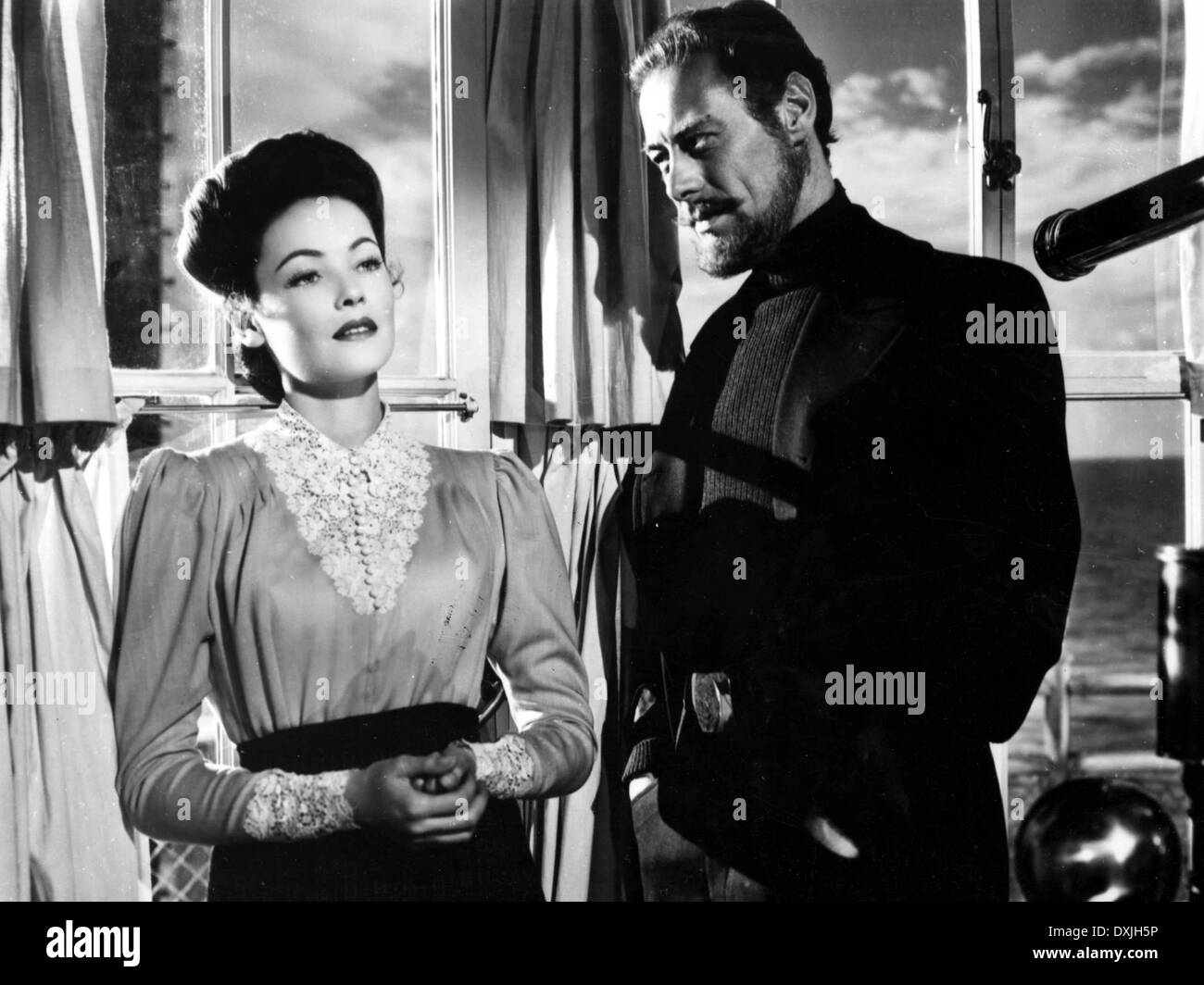 THE GHOST AND MRS MUIR (BR1947) GENE TIERNEY, REX HARRISON - Stock Image