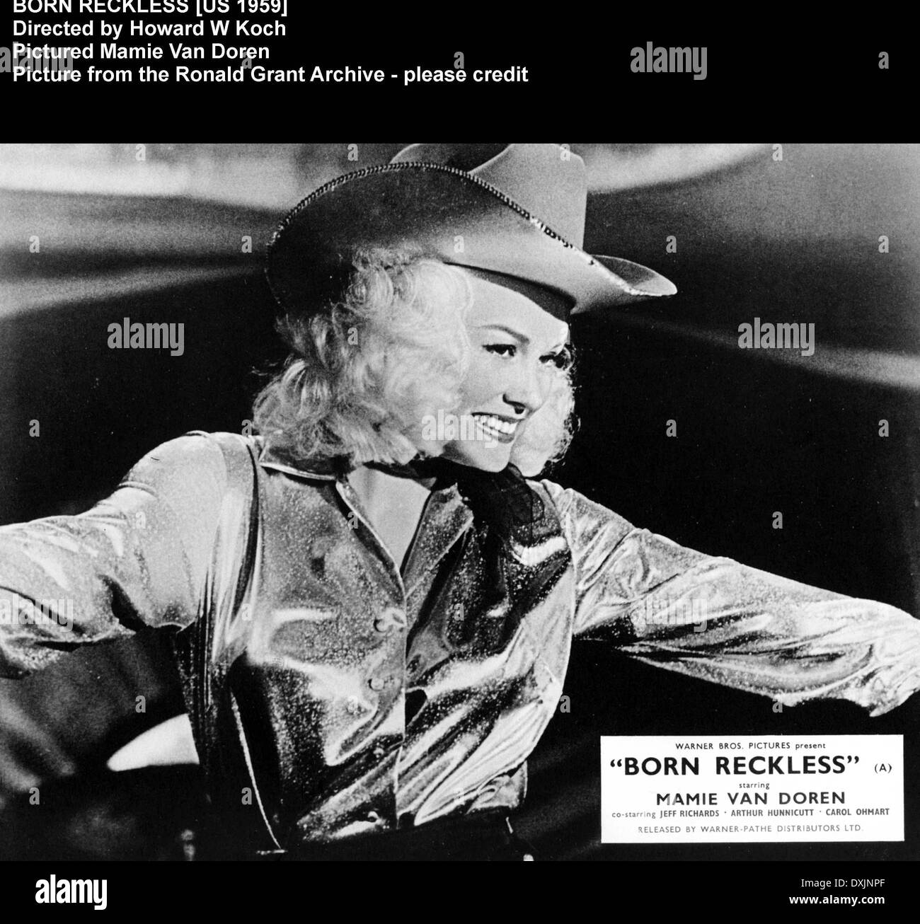 MAMIE VAN DOREN BORN RECKLESS AD GLOSSY POSTER PICTURE PHOTO HOLLYWOOD RODEO  3