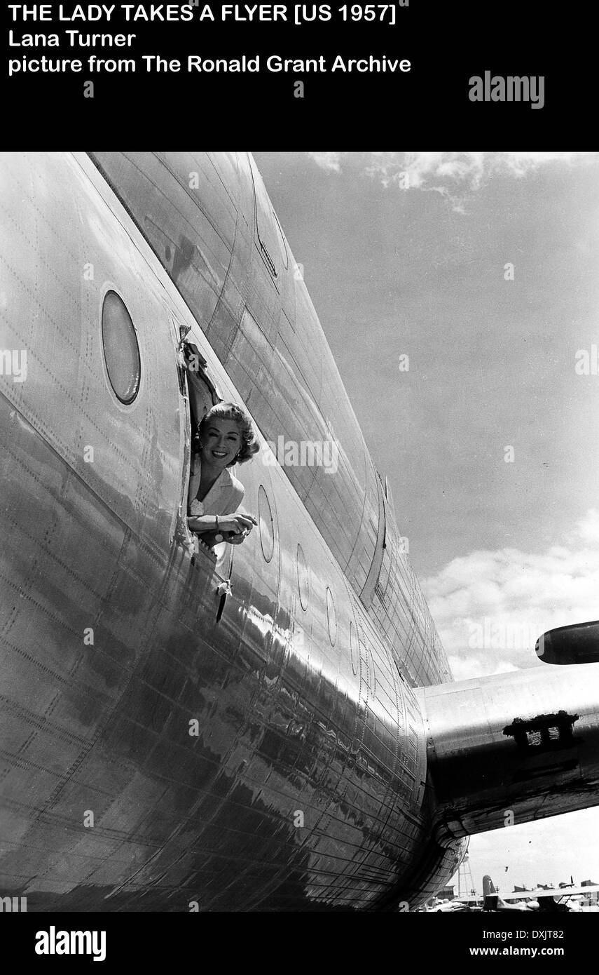 THE LADY TAKES A FLYER - Stock Image