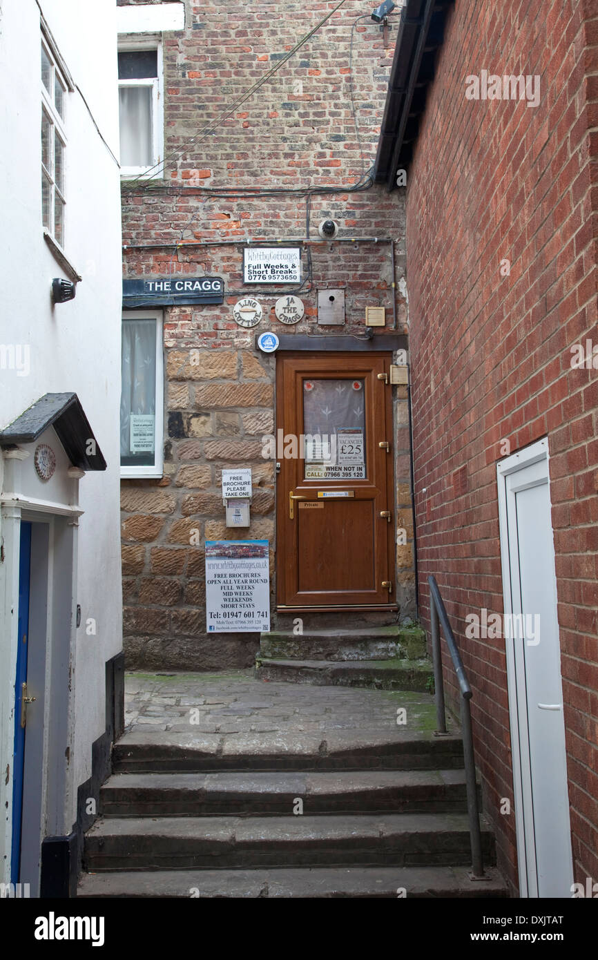 Small holiday cottage in Whitby North Yorkshire The Cragg - Stock Image