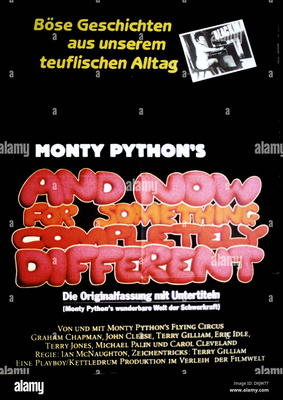 MONTY PYTHON'S AND NOW  FOR SOMETHING COMPLETELY DIFFERENT ( - Stock Image