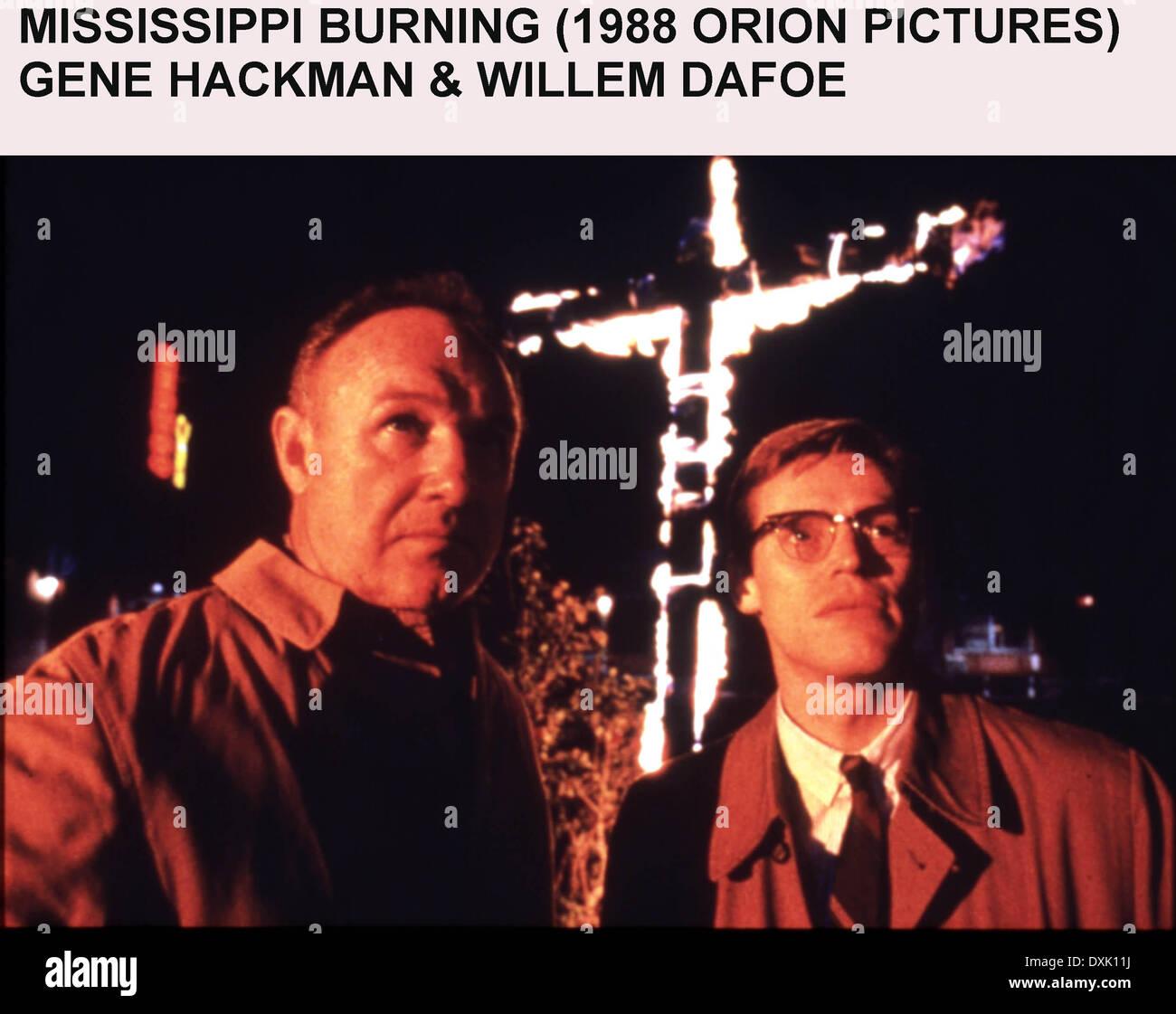 MISSISSIPPI BURNING - Stock Image