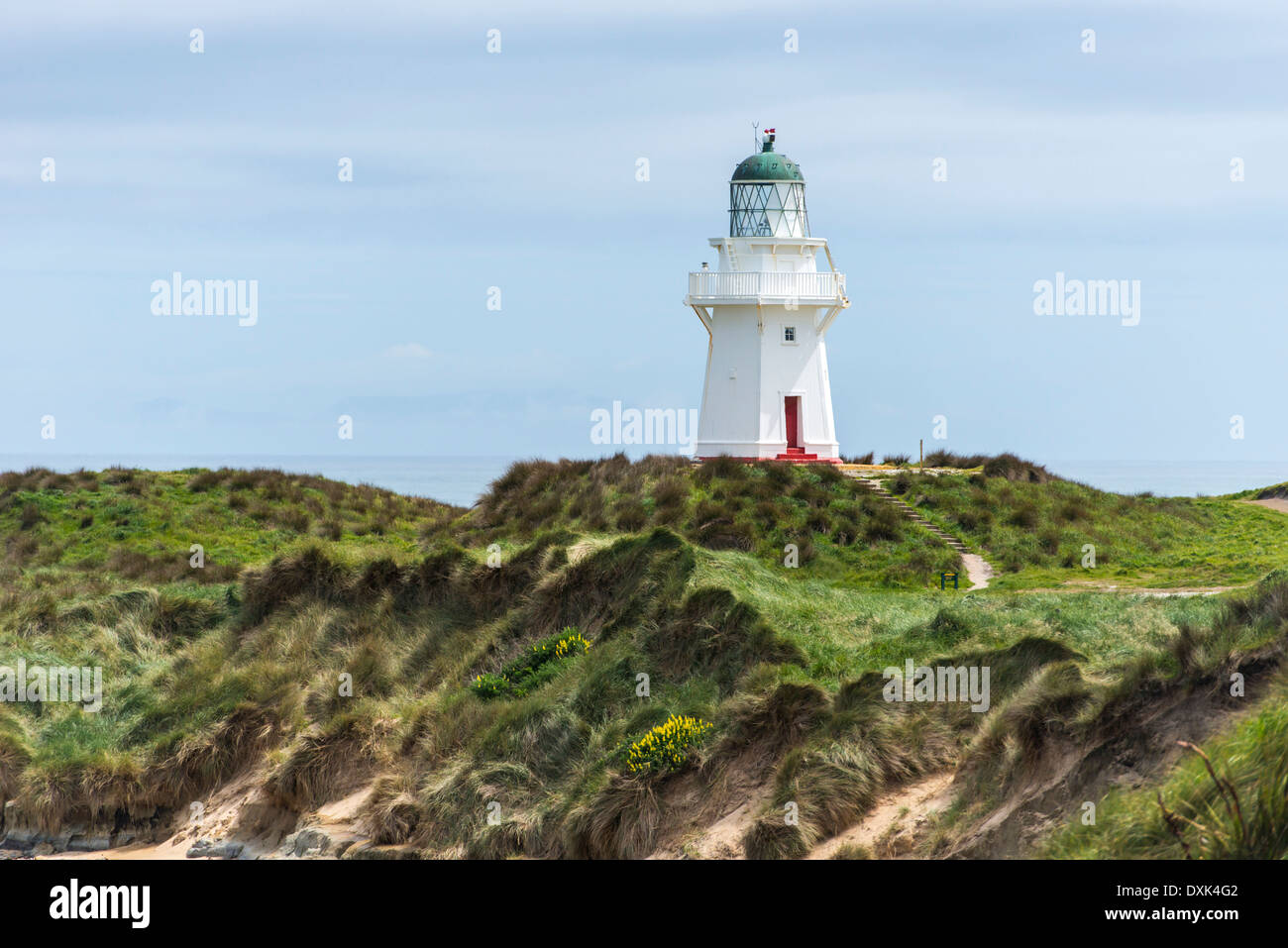 Lighthouse, Waikawa Point, New Zealand - Stock Image