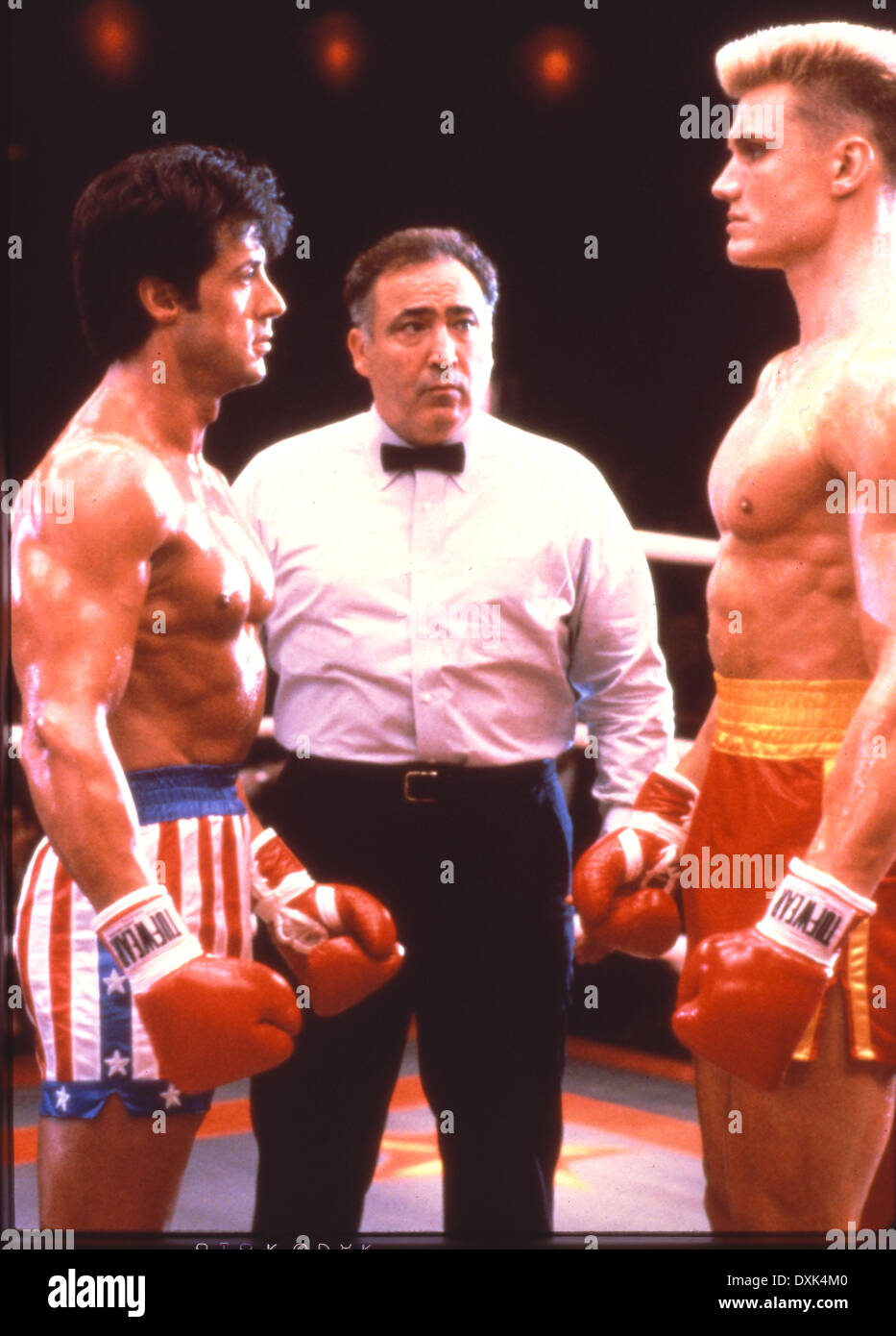 ROCKY IV (US1985) SYLVESTER STALLONE, DOLPH LUNDGREN PICTURE - Stock Image