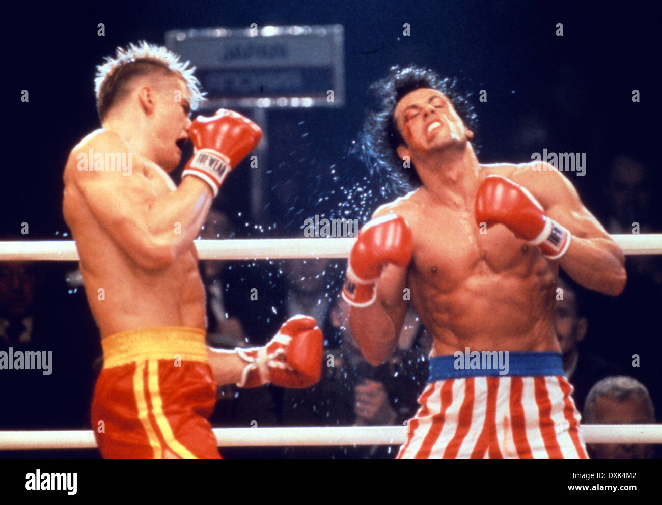 ROCKY IV (US1985) DOLPH LUNDGREN, SYLVESTER STALLONE PICTURE - Stock Image