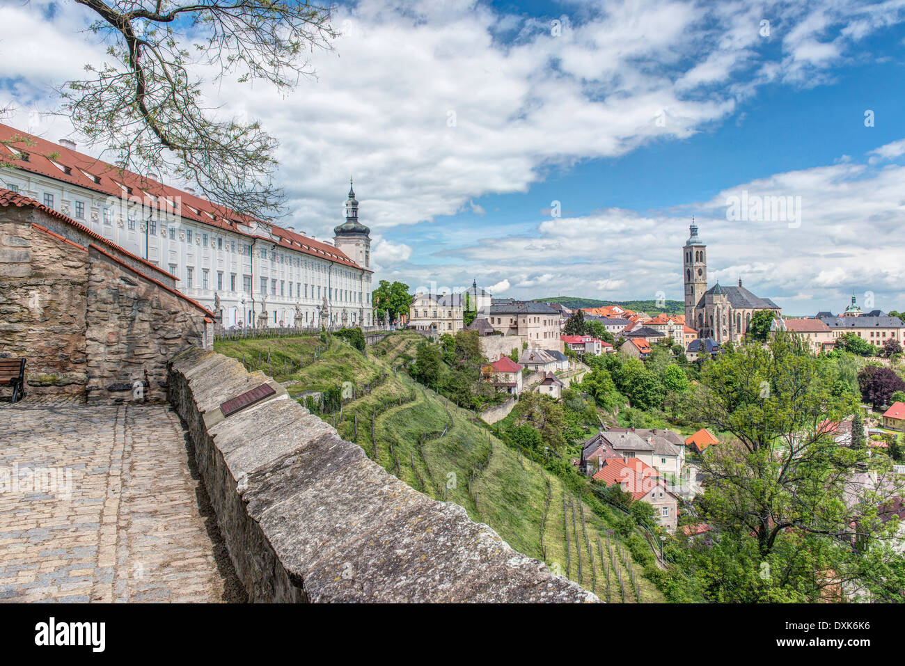 View of Kutna Hora, Central Bohemia, Czech Republic - Stock Image