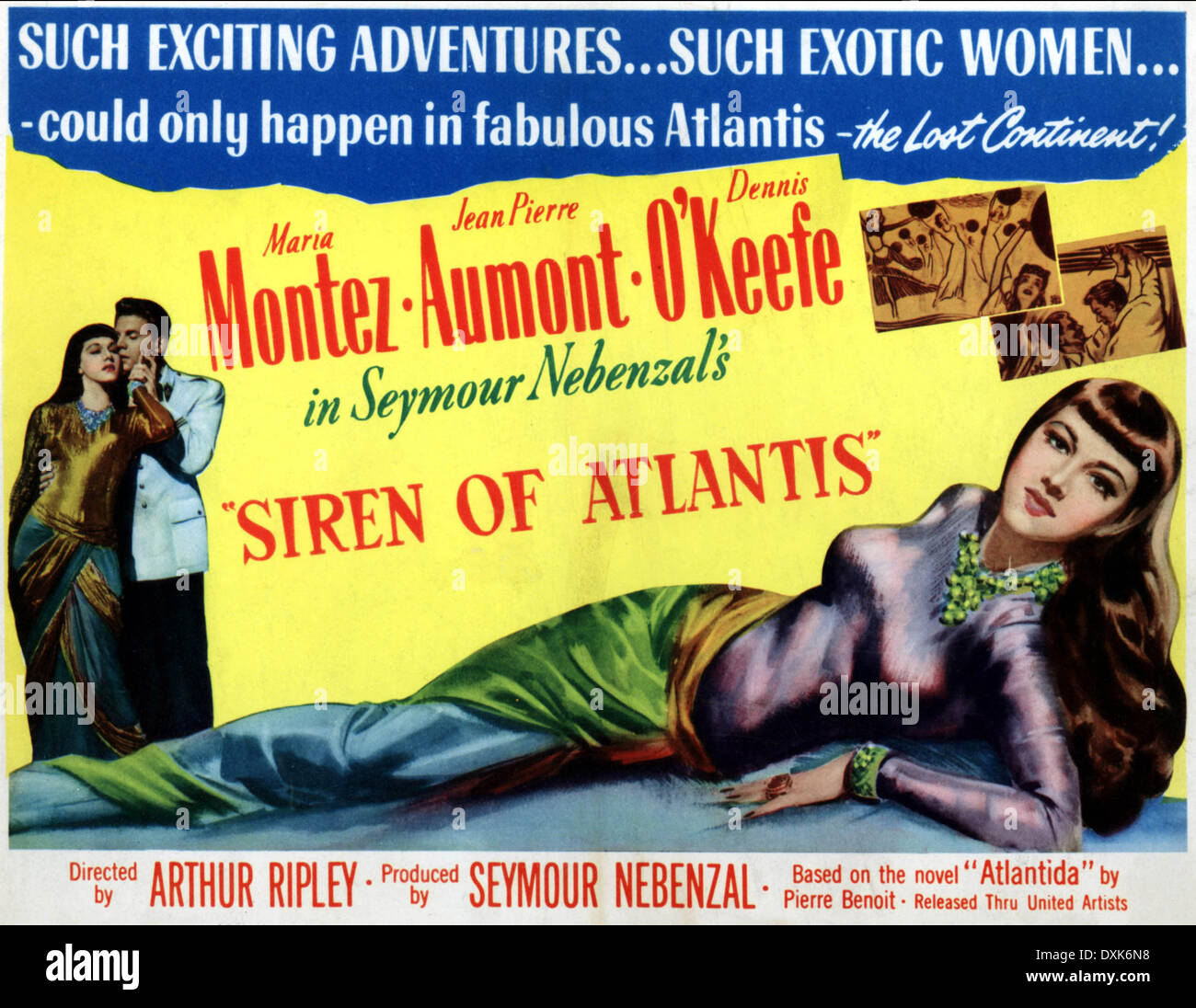 SIREN OF ATLANTIS - Stock Image