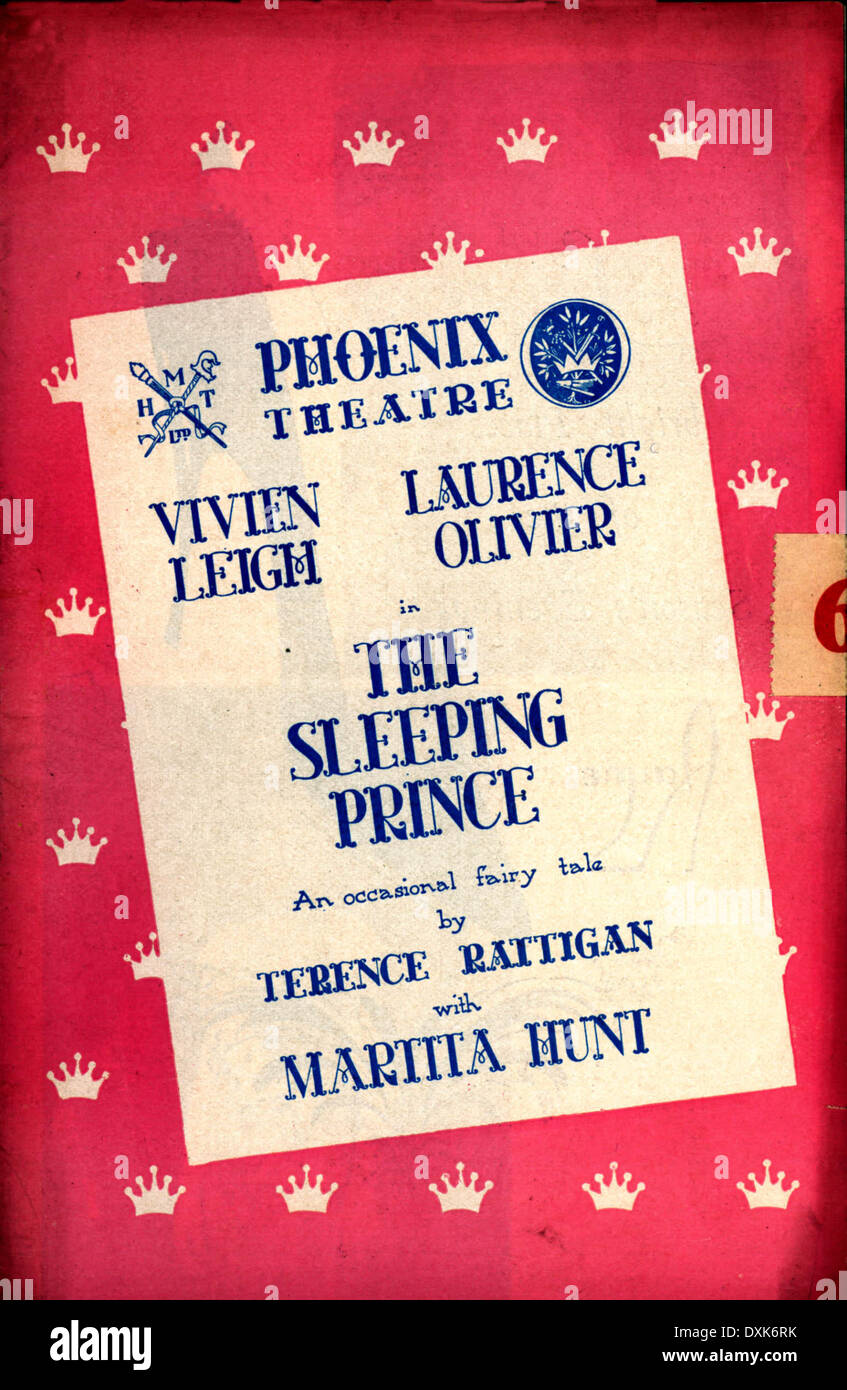 THE SLEEPING PRINCE (1954) THEATRE PROGRAMME - Stock Image