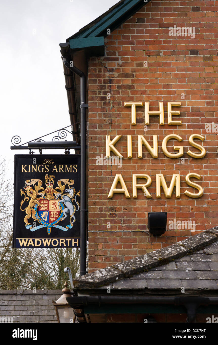 The Kings Arms village pub All Cannings Wiltshire England UK - Stock Image