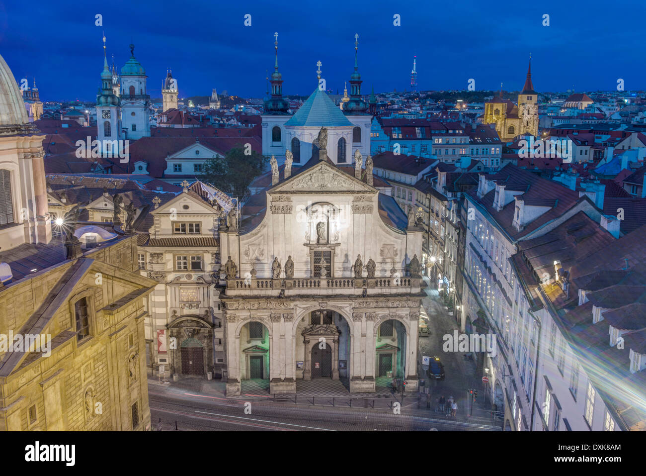Historic building in the Clemintinium, Prague, Central Bohemia, Czech Republic - Stock Image