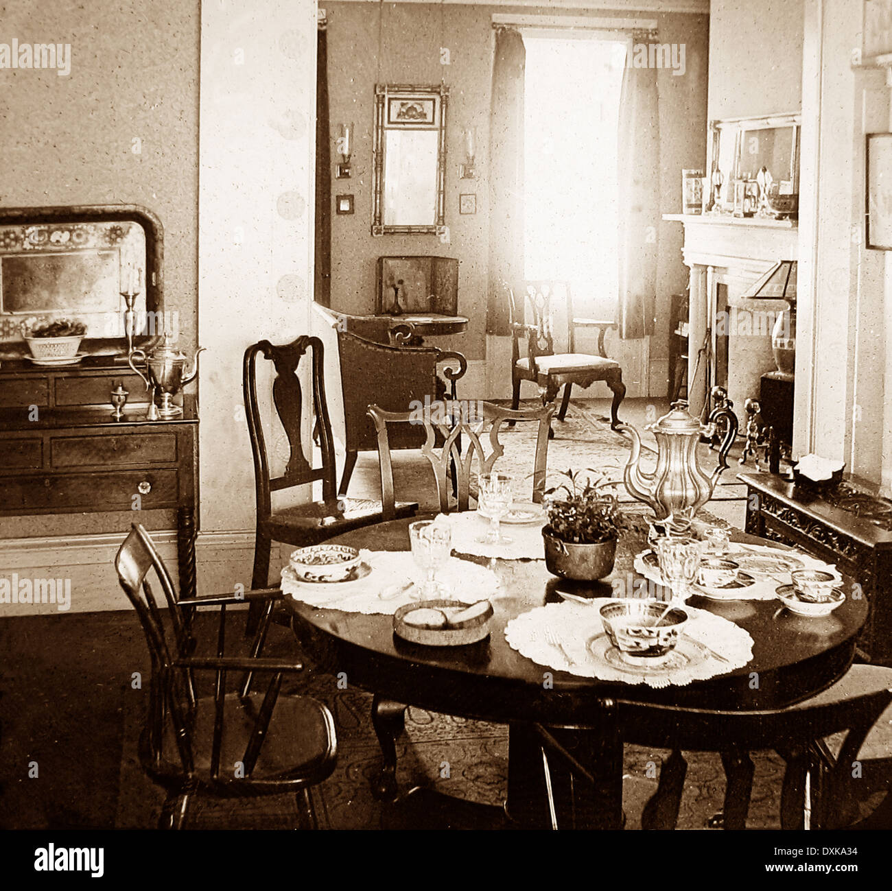 Interior Of A Modern Home Brooklyn New York USA Early 1900s   Stock Image