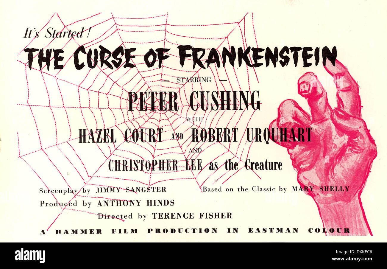THE CURSE OF FRANKENSTEIN  (BRITAIN 1957)   DIRECTED BY TERE - Stock Image