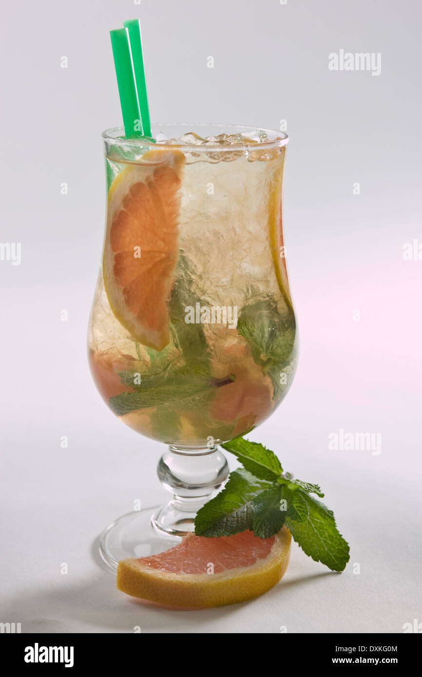 grapefruit cocktail drink - Stock Image