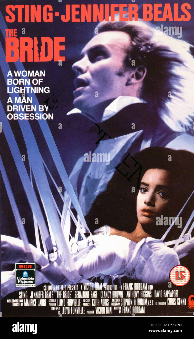 THE BRIDE (UK/US 1985)  POSTER/VIDEO SLEEVE - Stock Image