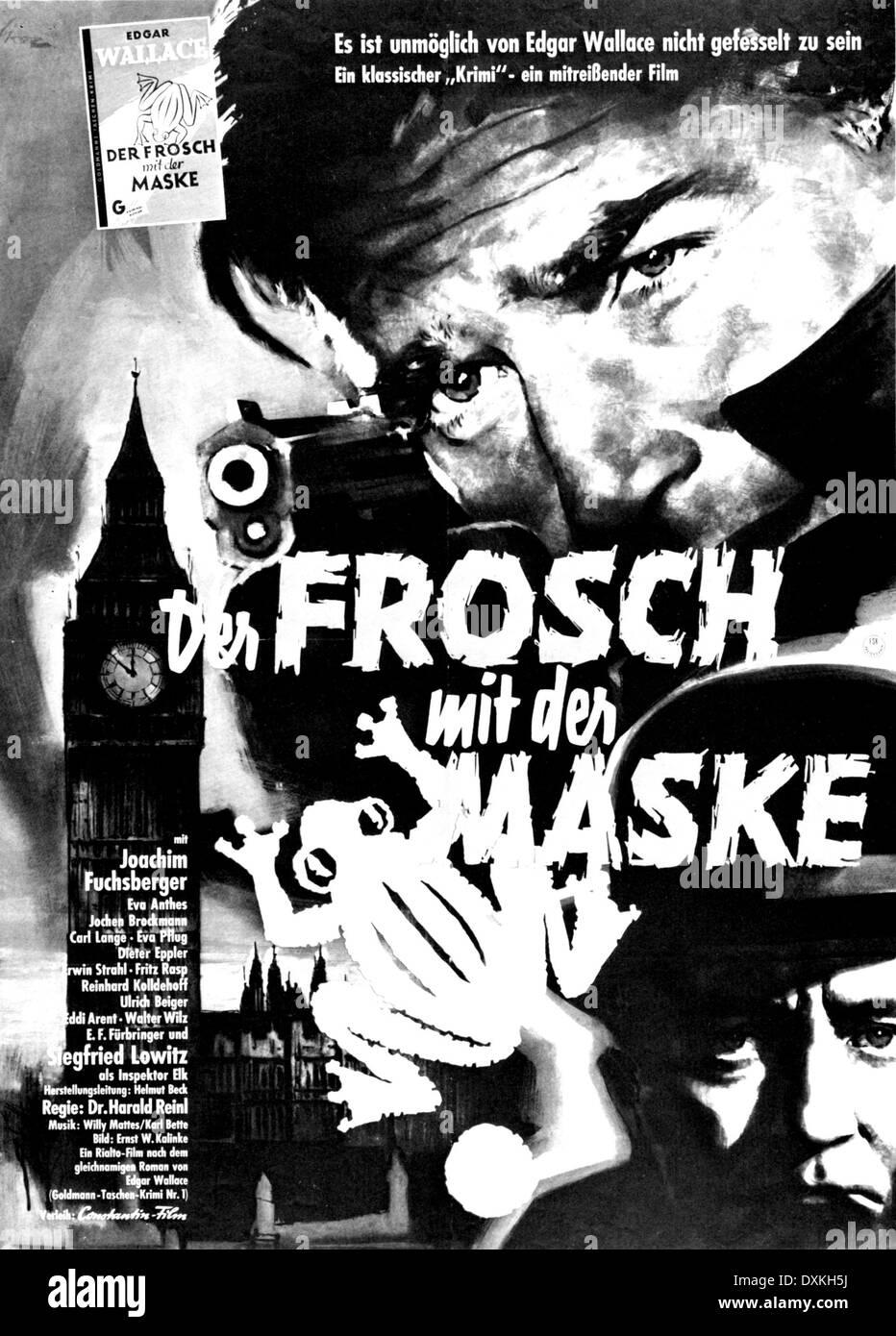 Der FROSCH MIT DER MASKE(W/Ger 1959)  Directed by Harald Rei - Stock Image