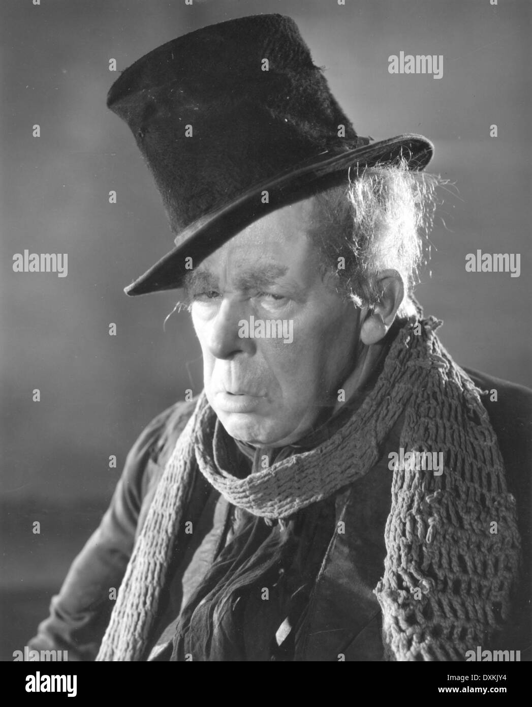 SCROOGE  (Britain 1935)  Directed by Henry Edwards    With S - Stock Image