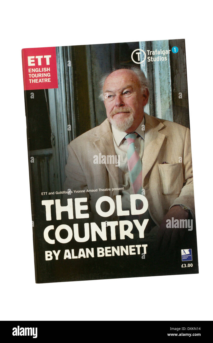 Programme for the 2006 English Touring Theatre production of The Old Country by Alan Bennett at Trafalgar Studios. - Stock Image