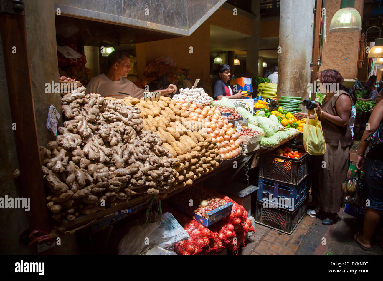 Mauritius island, Port Louis, market. Stock Photo