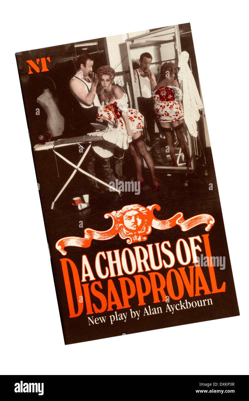 Programme for the 1985 National Theatre production of A Chorus of Disapproval by Alan Ayckbourn, at the Olivier Stock Photo