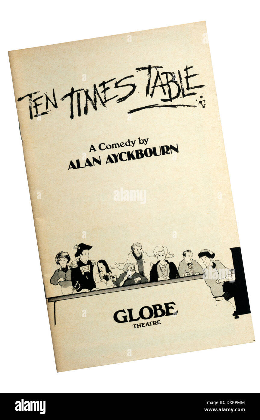 Programme for the 1978 production of Ten Times Table by Alan Ayckbourn at the Globe Theatre. - Stock Image
