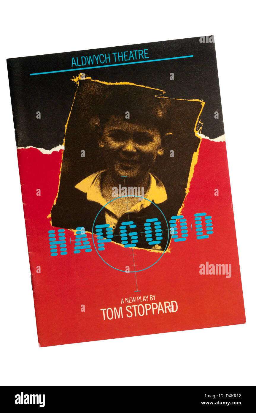 Programme for the 1988 production of Hapgood by Tom Stoppard at the Aldwych Theatre. - Stock Image