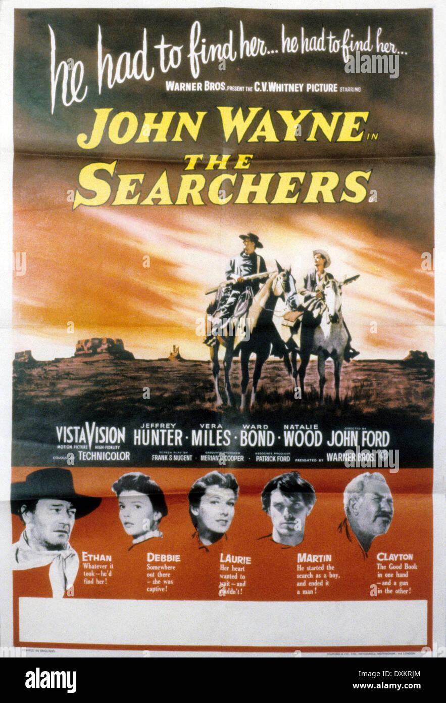 THE SEARCHERS - Stock Image