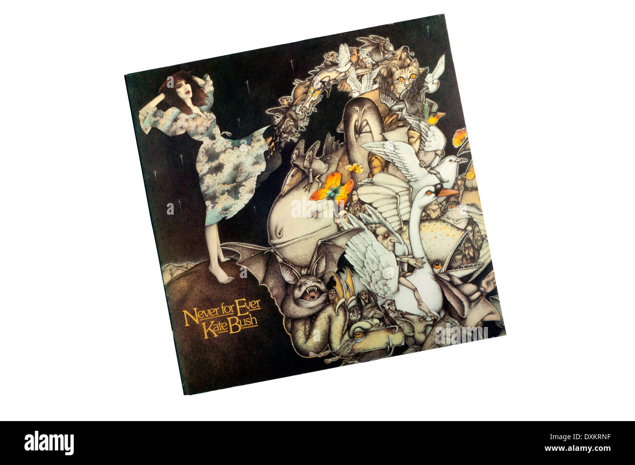 Never for Ever was the 3rd album by the English singer Kate Bush, released in 1980. - Stock Image