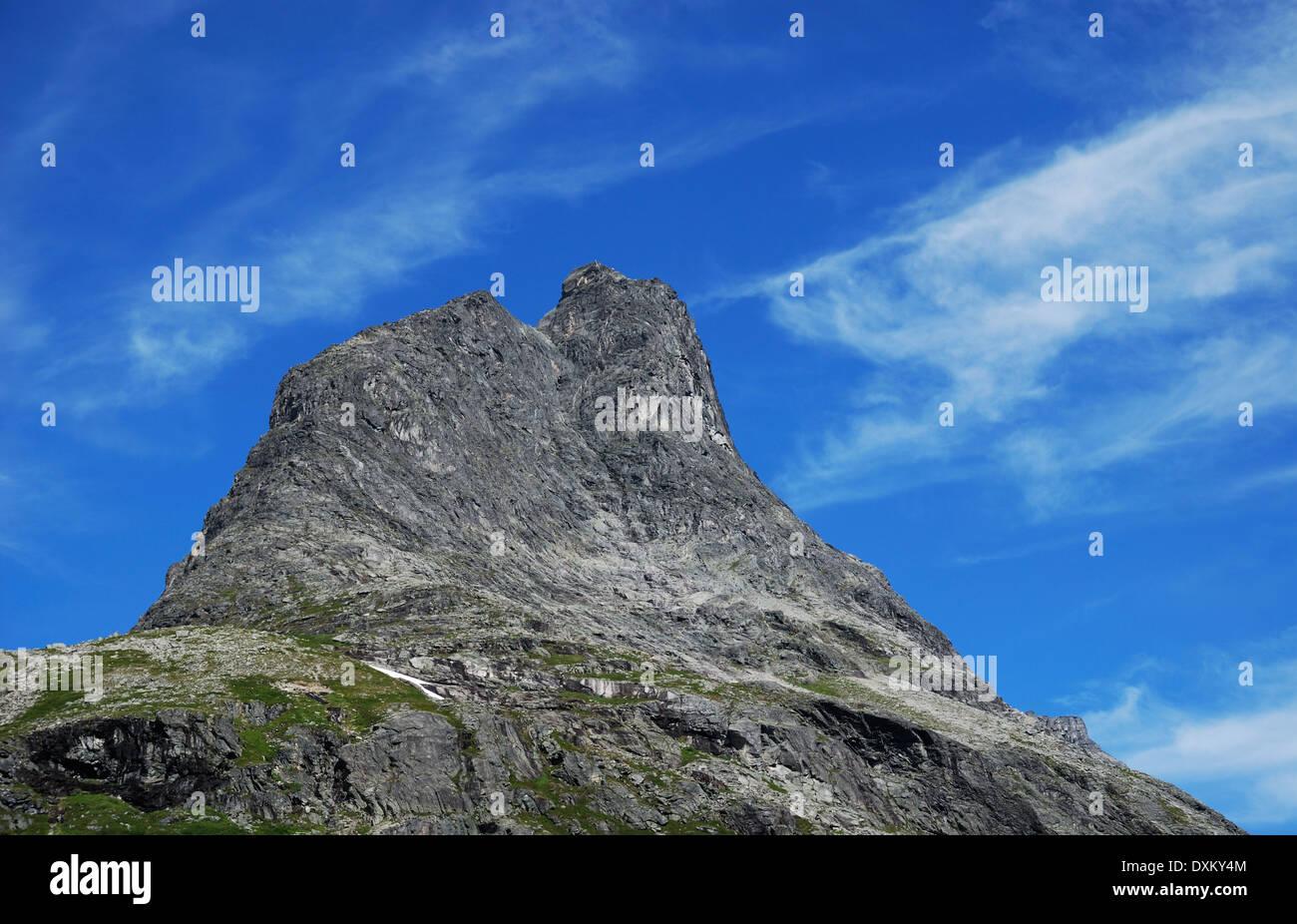 Peak of mountain. Trollstigen. - Stock Image