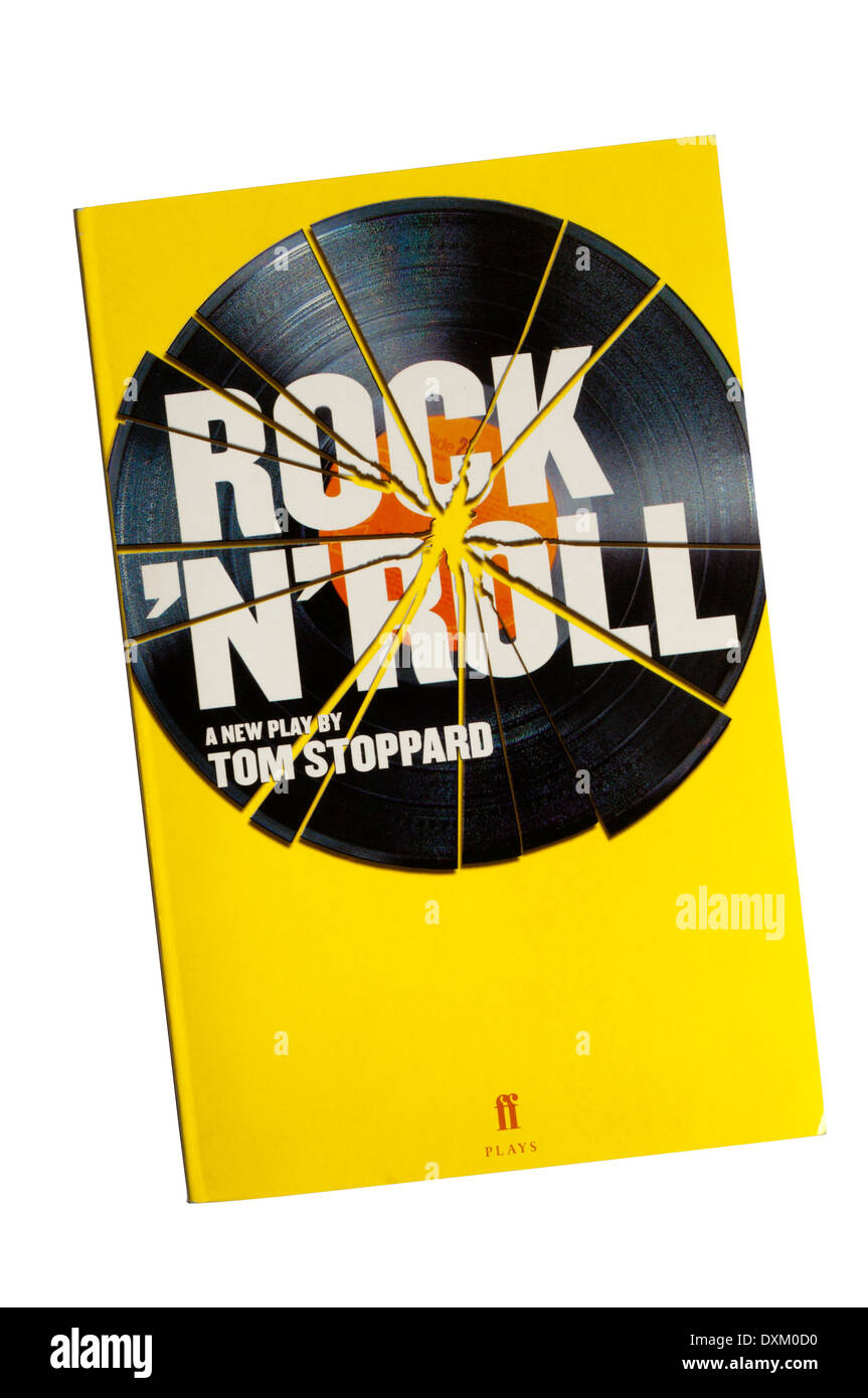 Programme / text for the 2006 production of Rock 'n' Roll by Tom Stoppard at the Royal Court Theatre. - Stock Image