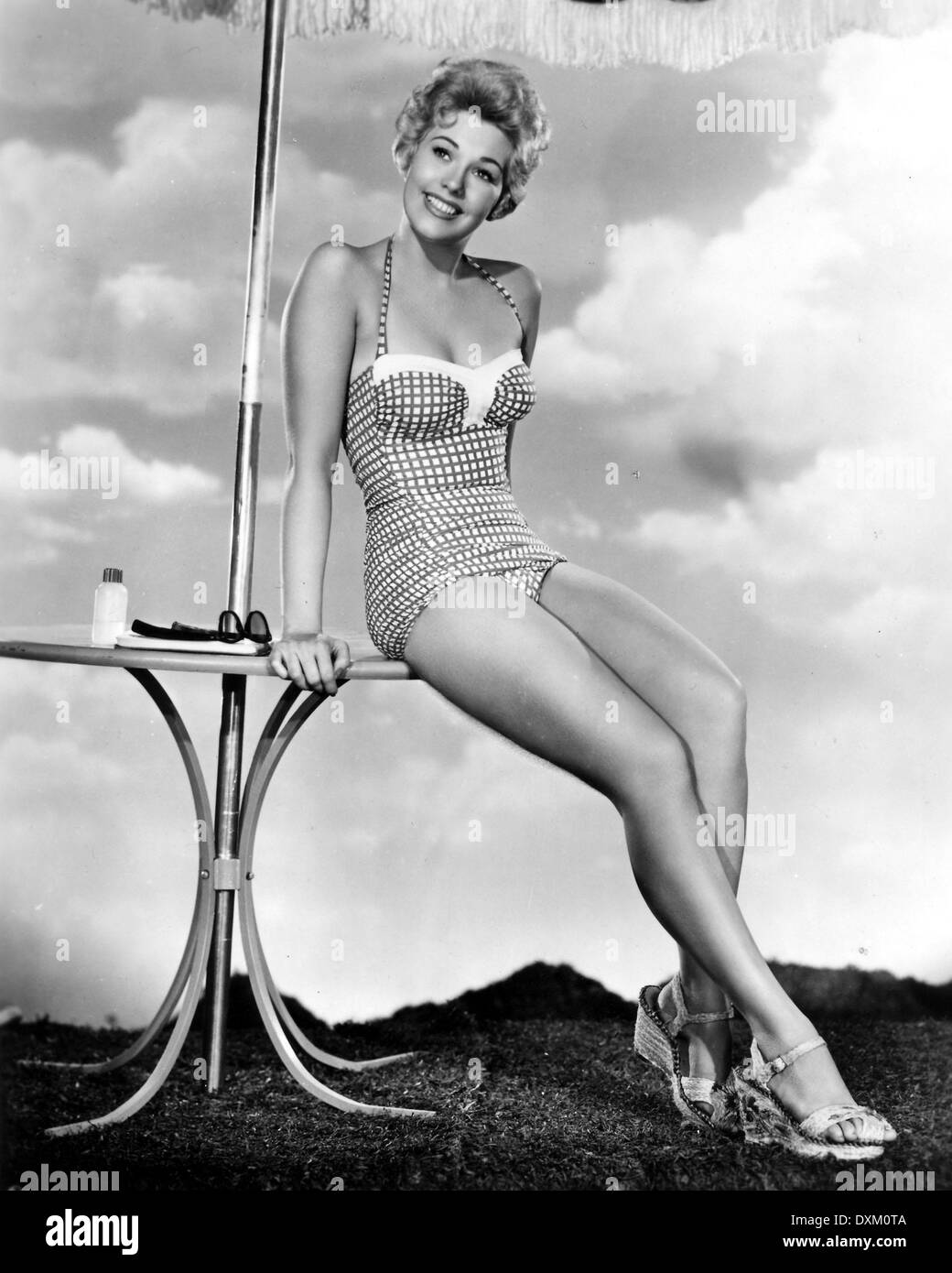 US actress KIM NOVAK in a publicity pose issued to publicise - Stock Image