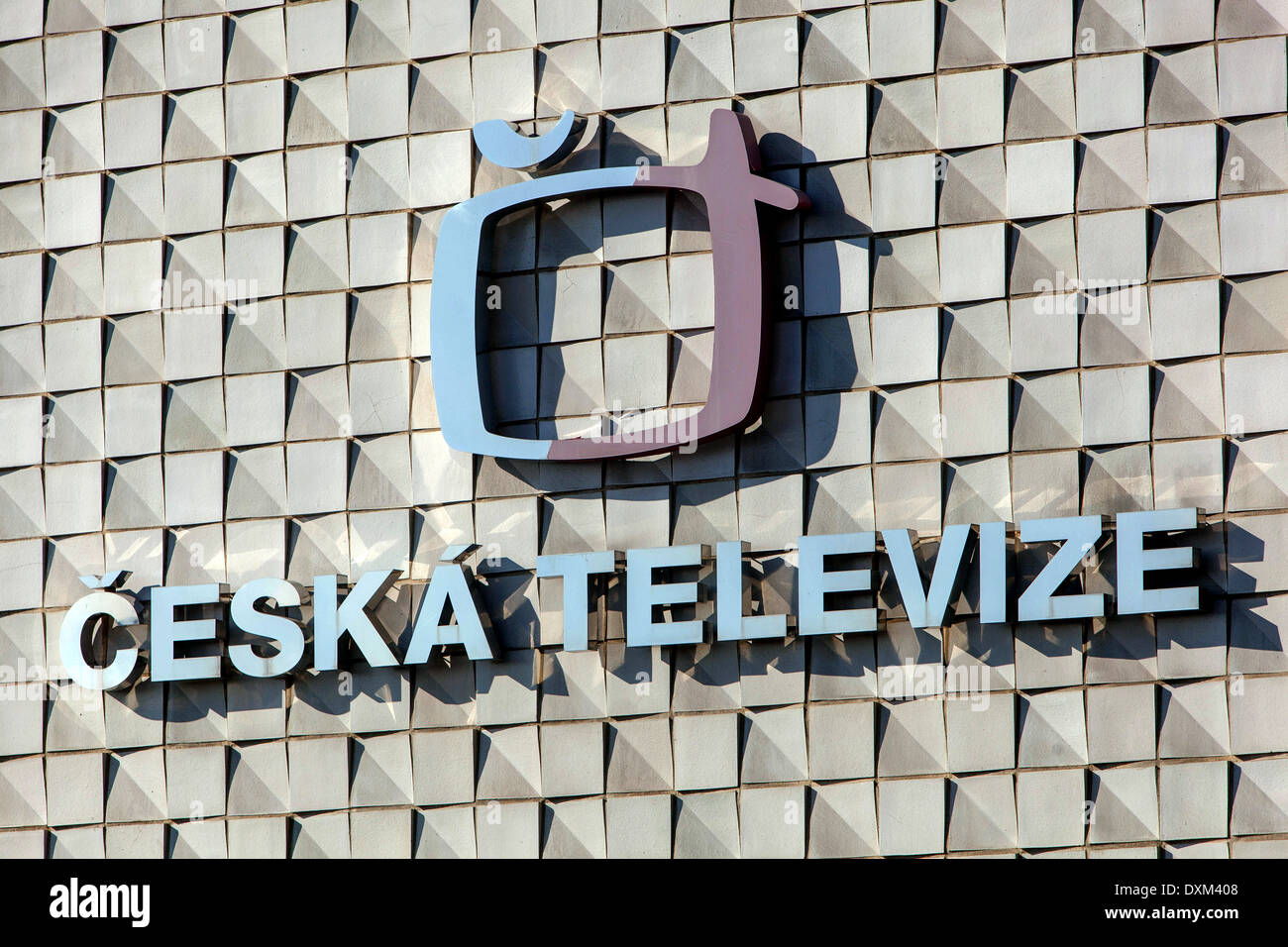 Czech TV Kavci Hory Pankrac Prague Czech Republic Stock Photo