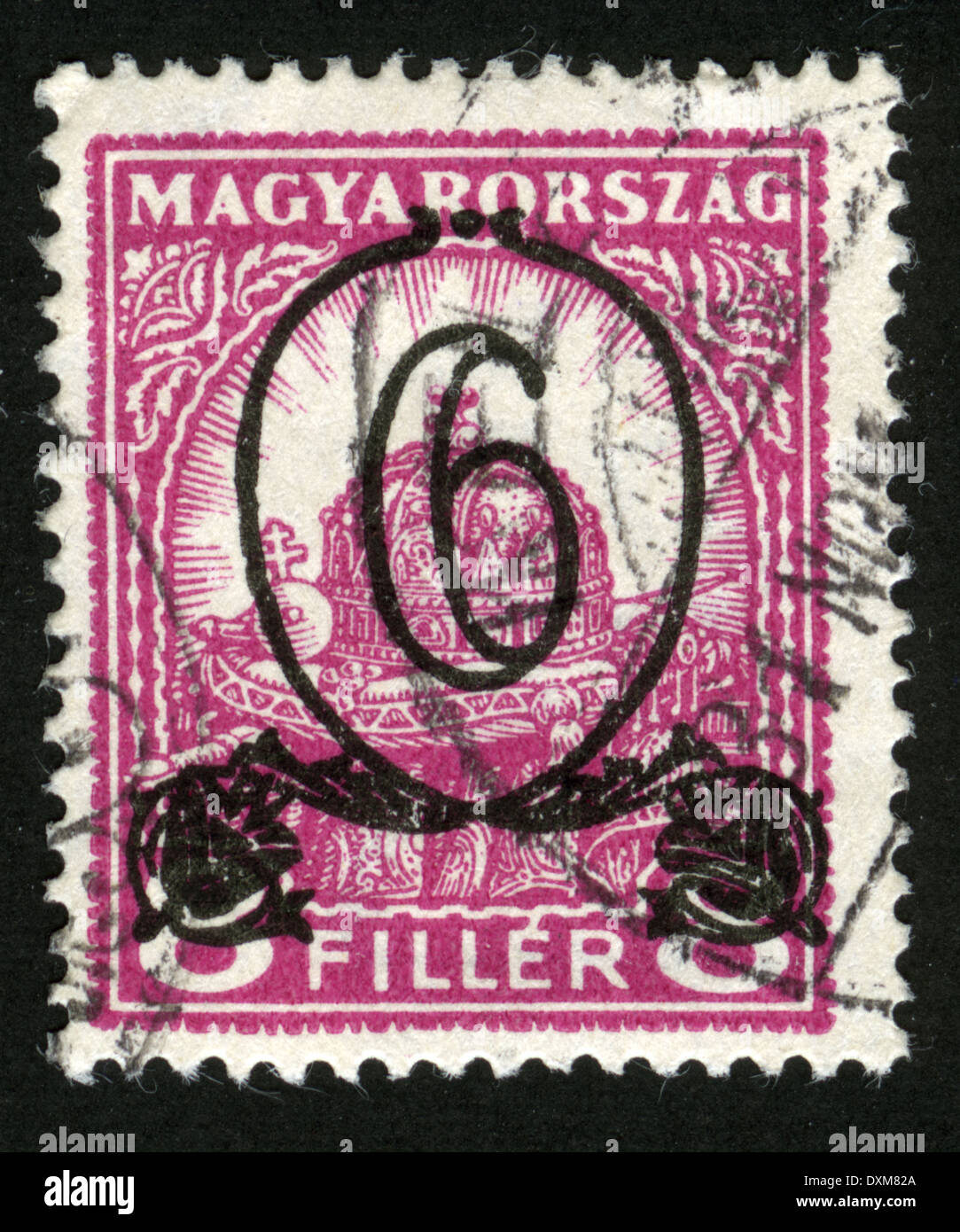 HUNGARY - CIRCA 1926: stamp printed by Hungary, shows Crown of St. Stephen, circa 1926 Stock Photo