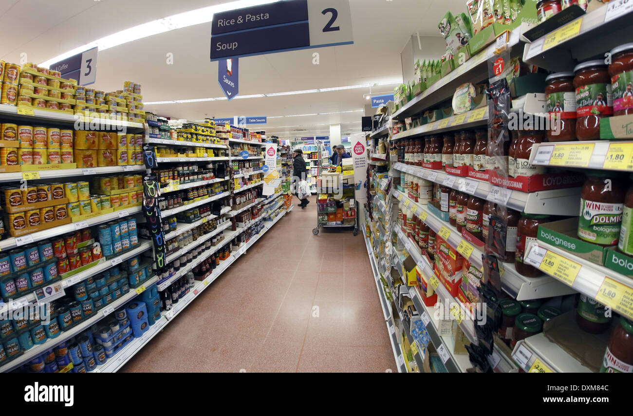 Interior of a supermarket. - Stock Image