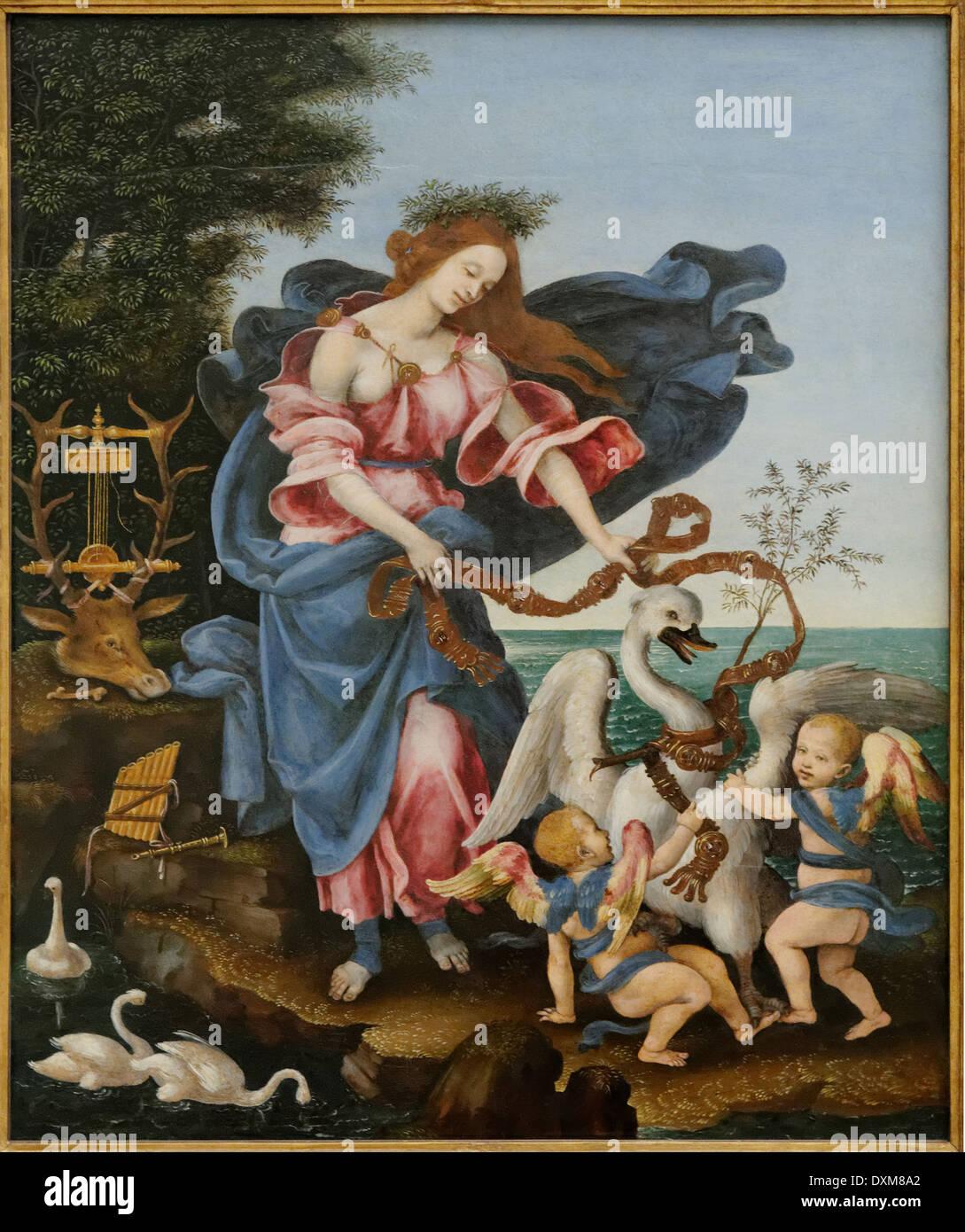 Filippino Lippi - Music Allegory - 1500 - XVI th Century - Italian School - Gemäldegalerie - Berlin Stock Photo