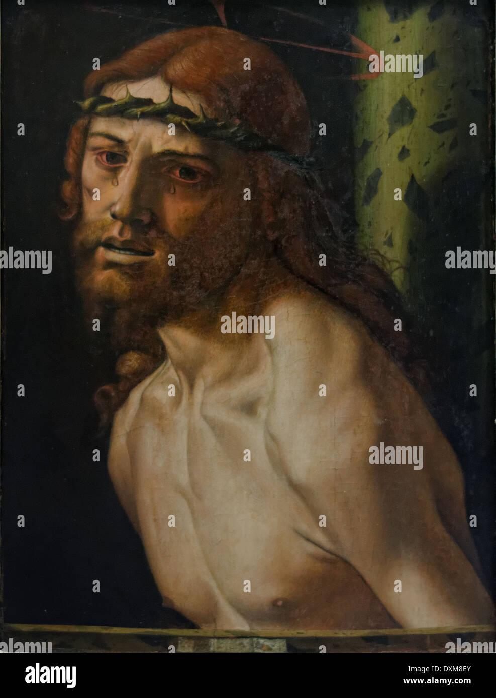 Bartolomeo Montagna - Christ at the Pillory - 1500 - XVI th Century - Italian School - Gemäldegalerie - Berlin - Stock Image
