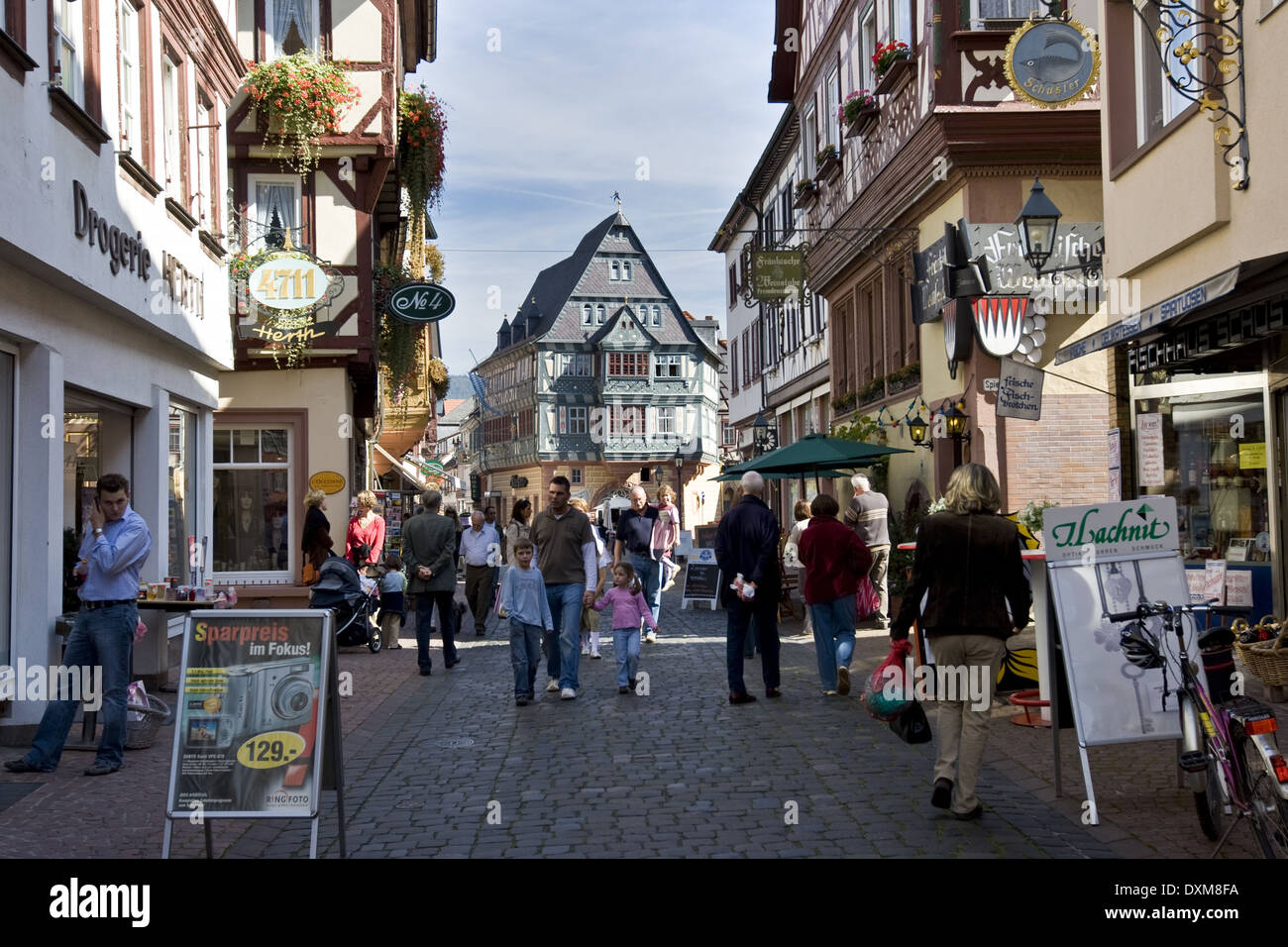 Germany, Bavaria, Townscape of Miltenberg - Stock Image