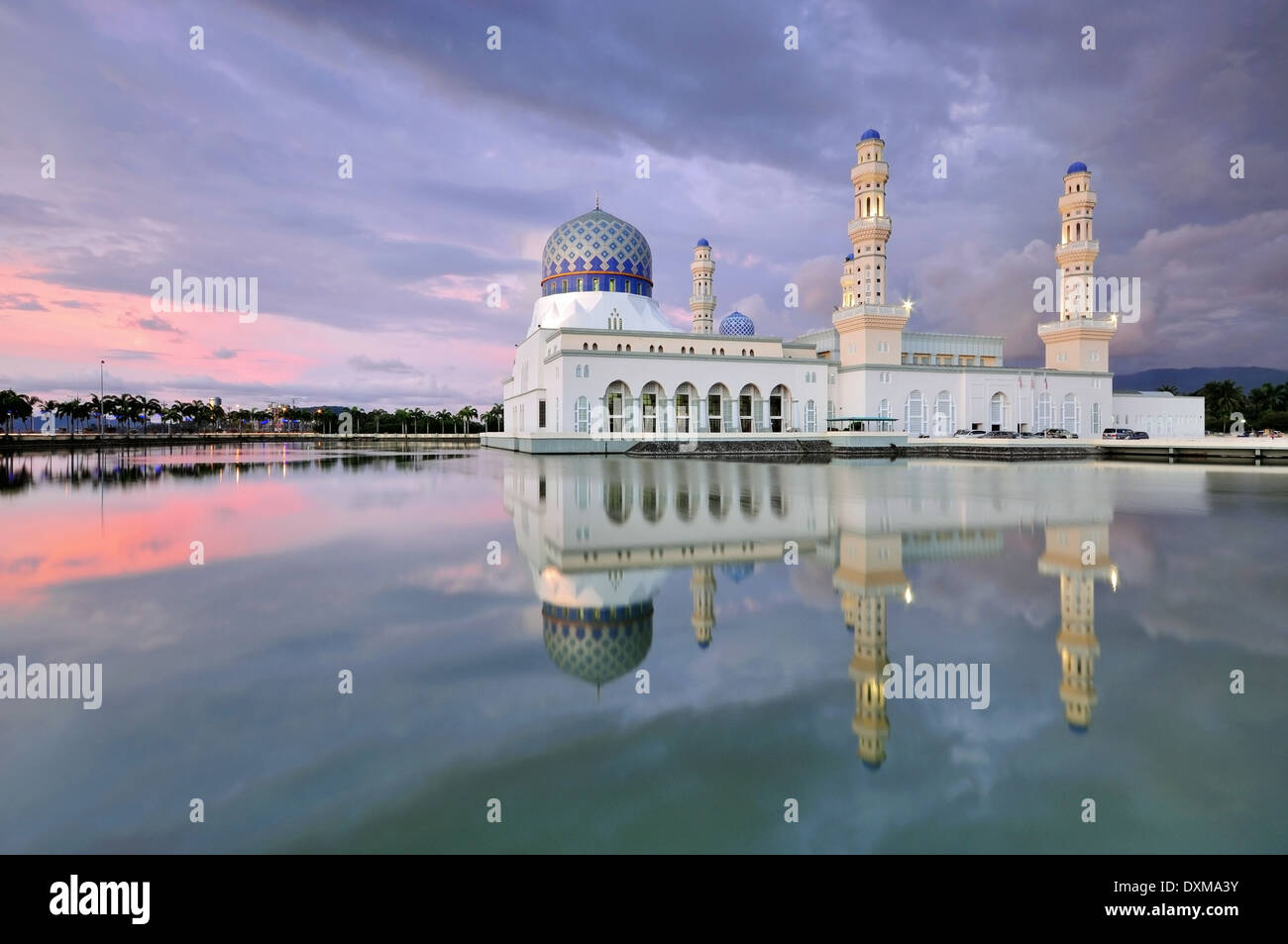 Kota Kinabalu City Floating Mosque, Sabah Borneo East Malaysia - Stock Image