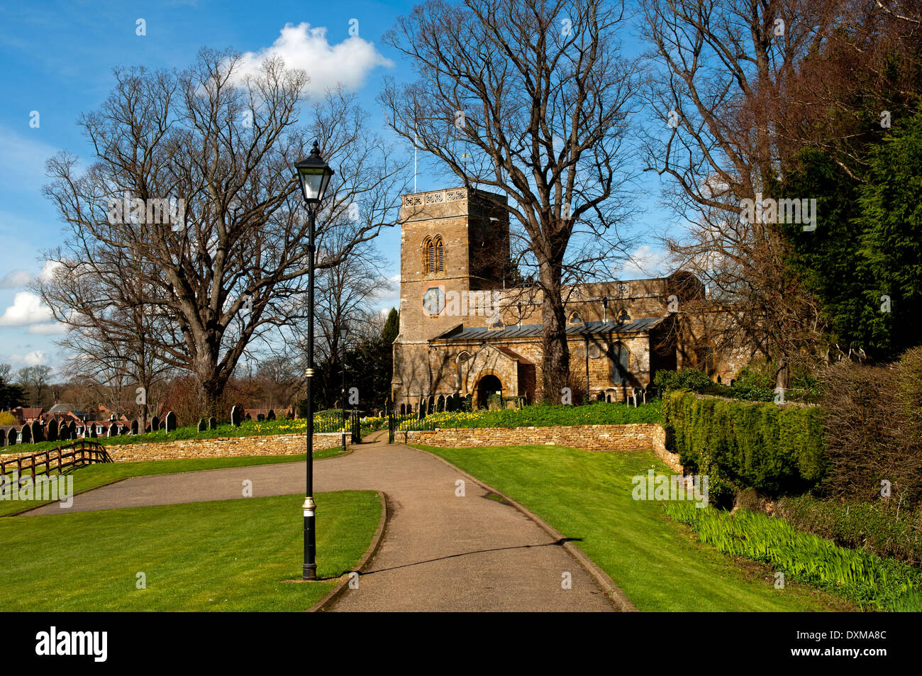St. Andrew`s Church, Great Billing, Northamptonshire, England, UK - Stock Image