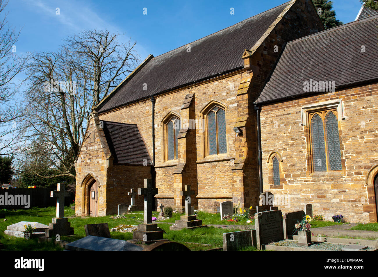 All Saints Church, Little Billing, Northamptonshire, England, UK - Stock Image