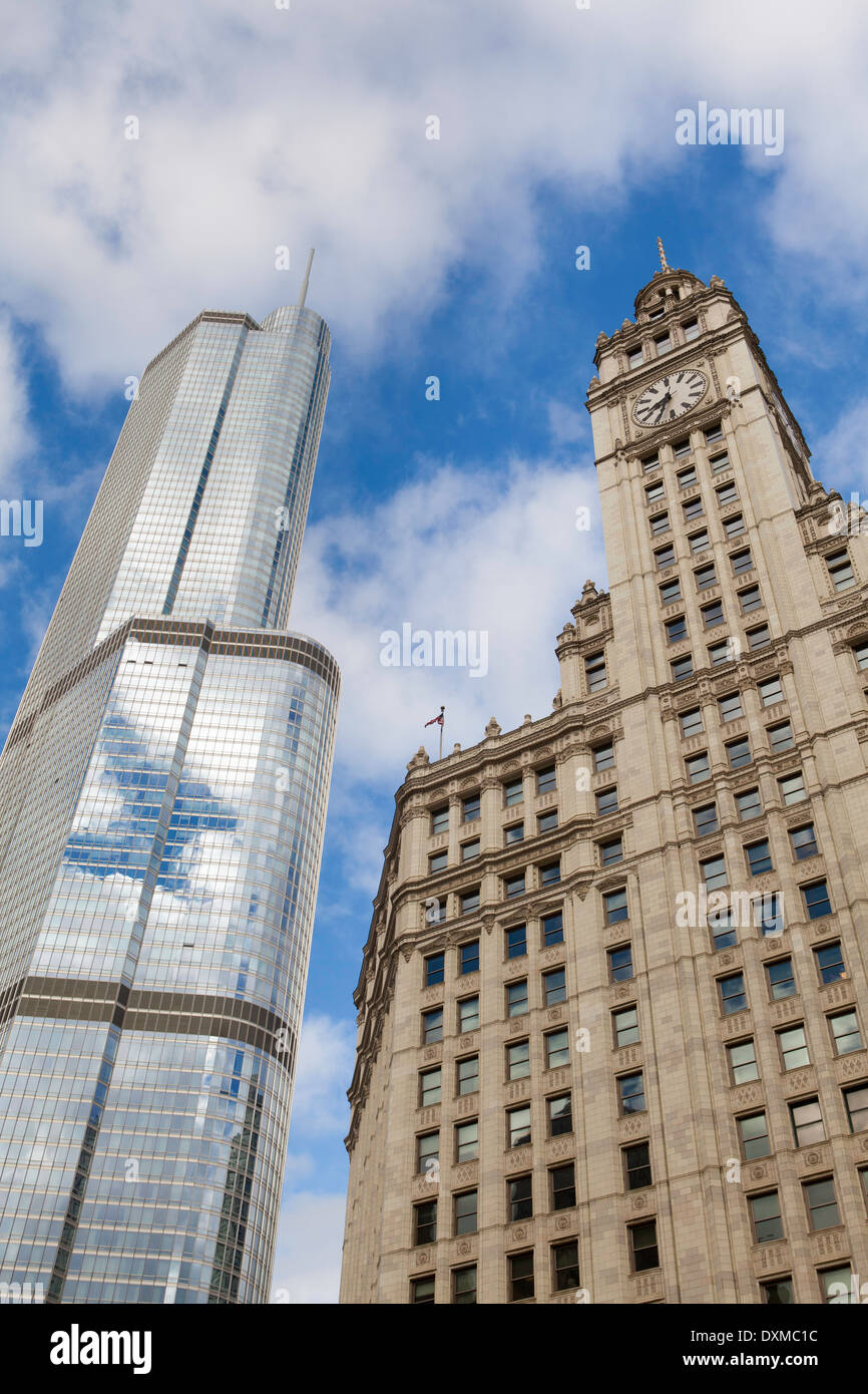 Chicago, Illinois, United States of America, downtown architecture - Stock Image