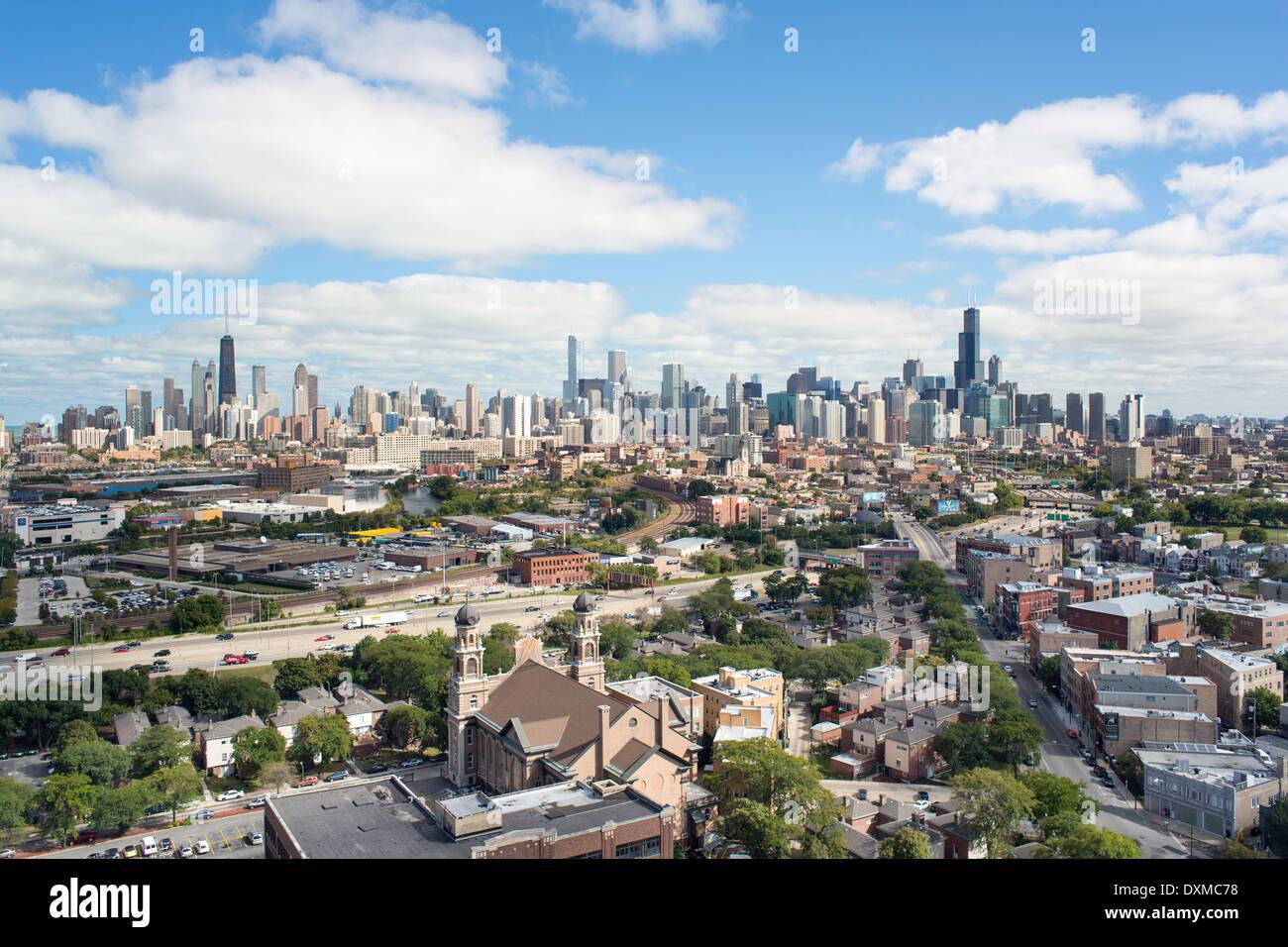 Chicago, Illinois, United States of America, city skyline - Stock Image