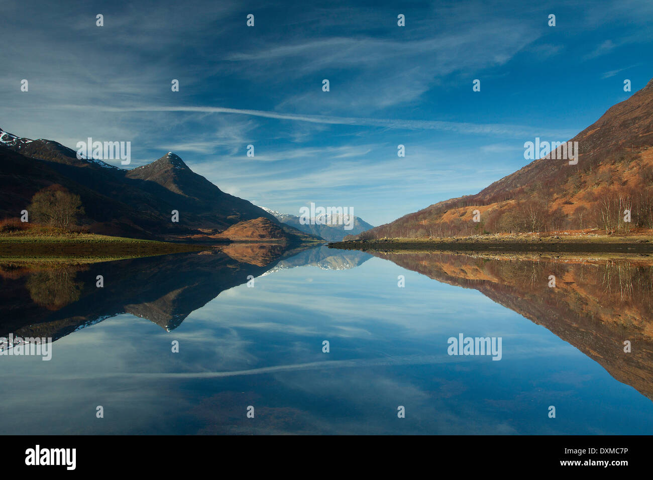 Loch Leven and Sgorr na Ciche from near Kinlochleven, Lochaber - Stock Image