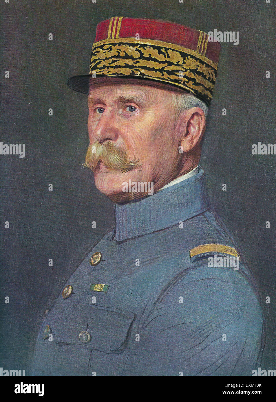 PHILIPPE PETAIN (1856-1951) French soldier in a 1940 magazine illustration - Stock Image