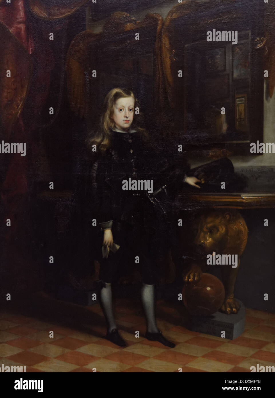 Juan Carreno de Miranda - King Charles II of Spain (Young) - 1673 - XVII th Century - Spanish School - Gemäldegalerie - Berlin - Stock Image